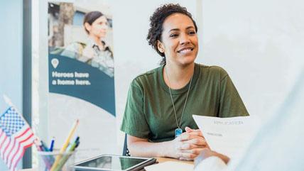 female veteran applying for a mortgage