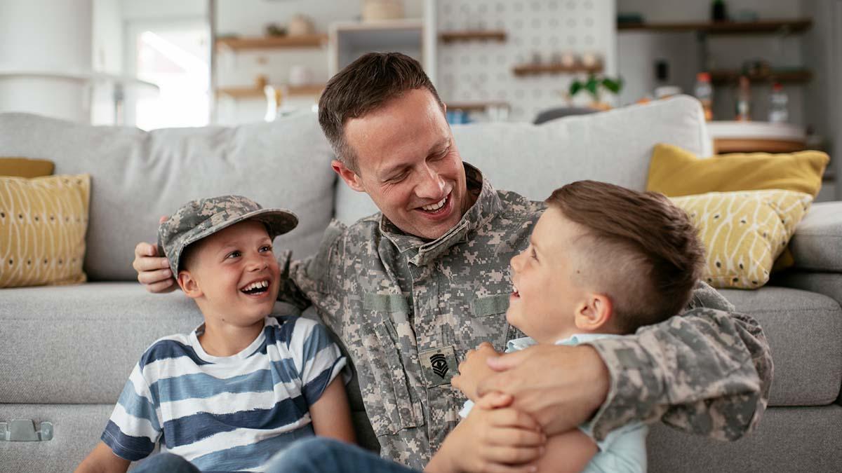 United States veteran smiles at the camera